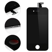 10 PCS/LOT New Black White LCD Display For iPhone 4/4s+Touch Screen 3.5