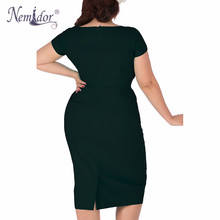 Nemidor Elegant Short Sleeve Casual Dress