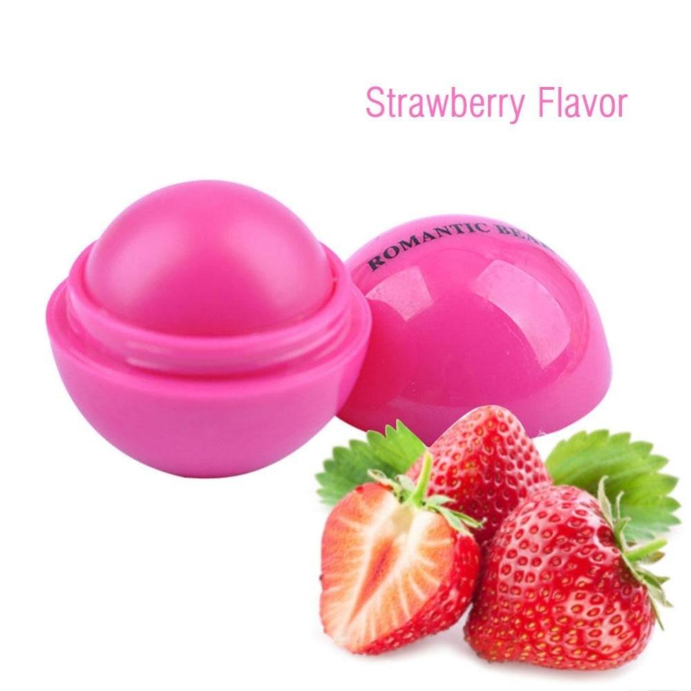 2pcs/lot Ball Lip Balm Lipstick Organic Ingredients Lip Protector Sweet Taste Fruit Embellish Lip Ball Makeup Lipstick Gloss