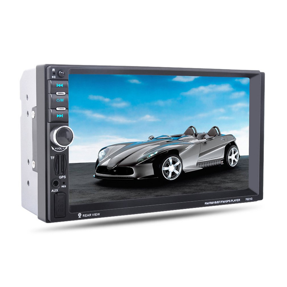 7-Inch 1080P HD Touch Screen Car MP5 Player With GPS Navigation Handsfree Bluetooth FM Radio Tuner AUX Audio Input 7021G