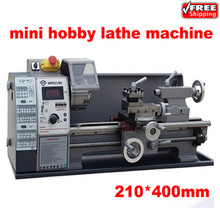Free shipping mini household mini hobby lathe machine price with stepless variable speed 600w 210 400mm