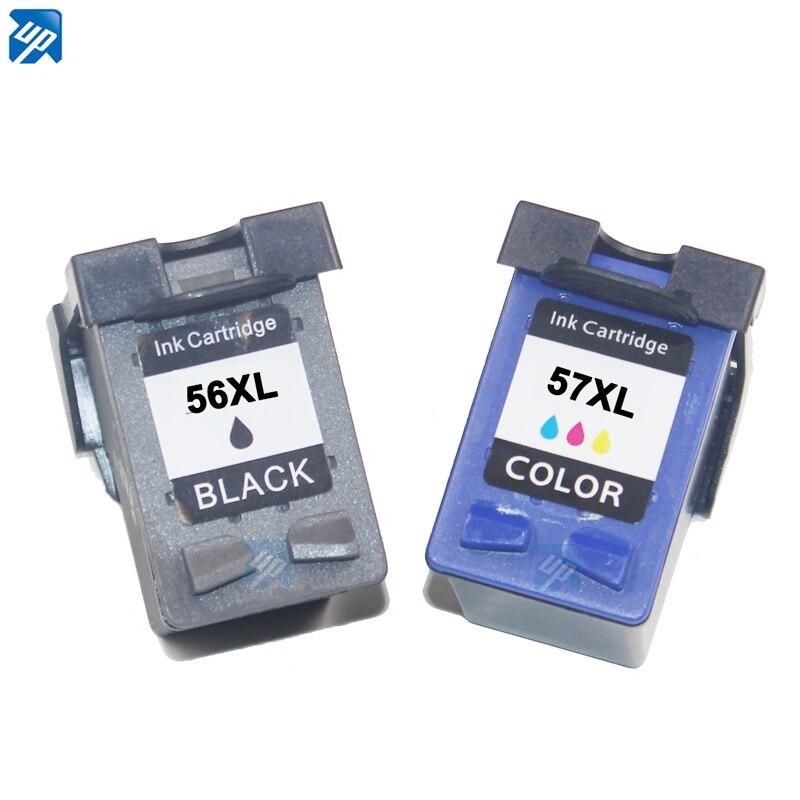 Фирменный 2 шт струйный картридж для HP 56 C6656A и HP 57 C6657A для HP DJ 450/450cbi/450ci/450wbt принтера