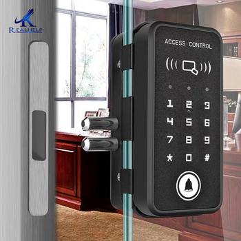 Zamek RFID dla szkło biurowe drzwi karta RFID zamek cyfrowy inteligentny zamek do drzwi centralny zamek drzwi z Aluminium zamek RFID 2000 użytkowników tanie i dobre opinie Realhelp NONE CN (pochodzenie) 6508 4*AA Alkaline battery -25 - +55degree about 1years depends one battery quality Glass door Wooden door Aluminium Door