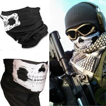 2016 New Outdoor Skull Neck Face Bandana Mask Bike Motorcycle Helmet for Paintball Ski Sport Headband As Scarf Bib