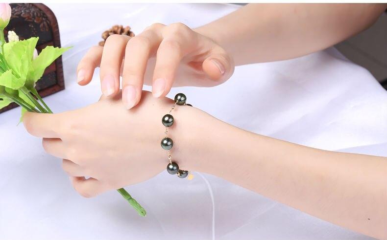 gold pearl bracelets 88