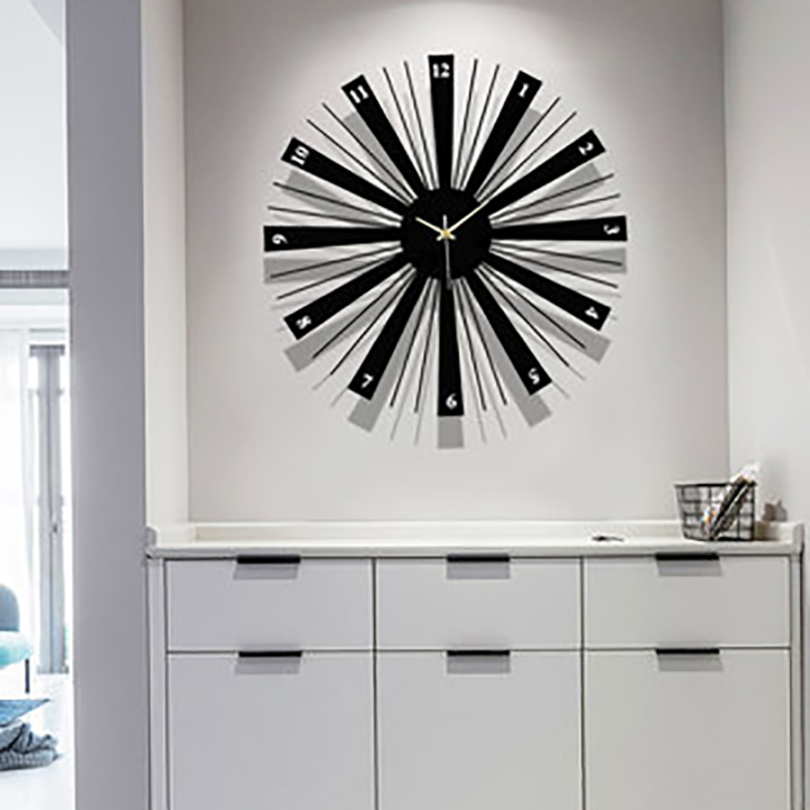 Retro Design Moderno Orologio Da Parete Meccanismo di Orologio Digitale Da Cucina Vintage Creativo Grande Decorativi Orologi Da Parete Complementi Arredo Casa 50Q123