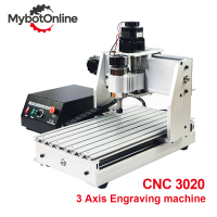 3 Axis CNC Router Machine 300W/800W/1.5KW 3020 Spindle Motor MACH3 CNC Engraver Engraving Machine Support USB Laser Cutter