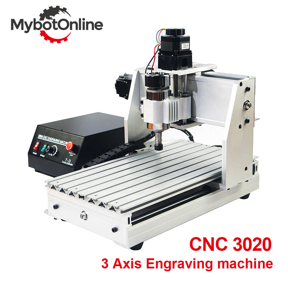 3 eixo Da Máquina Router CNC 300 W/800 W/MACH3 1.5KW 3020 Motor Spindle CNC Máquina de Gravura Do Gravador suporte USB Cortador de Laser