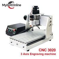 3 eixos cnc roteador máquina 300 w/800 w/1.5kw 3020 eixo do motor cnc gravador máquina de gravura suporte a laser usb cortador|Roteadores de madeira| |  -