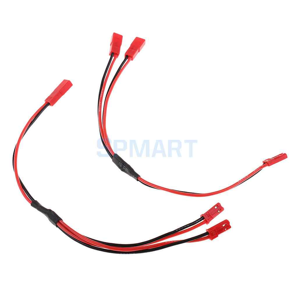 2 Pcs RC Spare Parts Kabel Pria & Wanita 1:2 Y Splitter 20AWG JST Connector