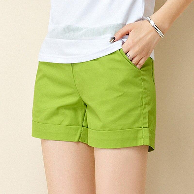 2018 Neue Sommer Shorts Frauen Casual Mode Candy Farbe Heiße Verkäufe Schließt Weibliche Plus Größe Lose Damen Freizeit Shorts