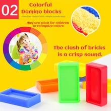 Motorized Domino Train Car kit Set Up Blocks Elevator Springboard Bridge Set Colorful Bricks Plastic toy gift for children kids