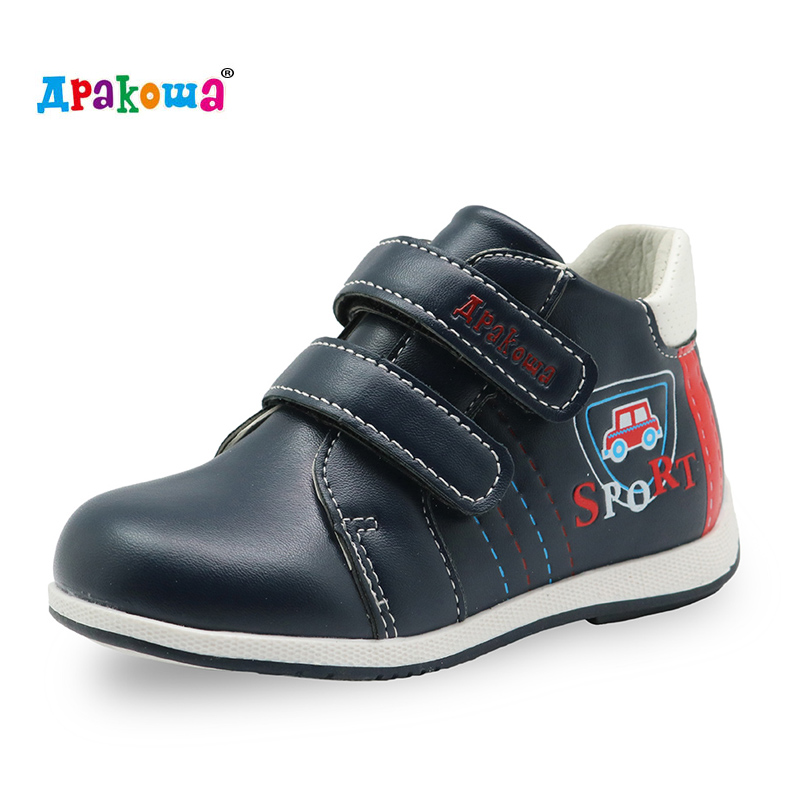 Apakowa Toddler Boys Boots New 2017 Spring Autumn Handmade Comfortable Boys Boots Fashion Kids Boots Children