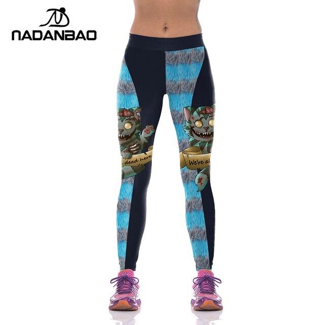 5602fee446 NADANBAO Brand Fashion Autumn Women Leggings Halloween Black Cat Sporting Leggings  Women Printed Compress Fitness Mujer Pants