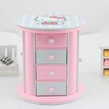 Plastic Castle In The Sky Clockwork Cartoon Hello Kitty Music Box Jewelry trinket Casket Box Birthday Wedding Gift One Piece