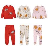 Conjuntos de ropa para niños 2018 otoño Bobo Choses bebés niñas mamelucos niños  ropa Animal rayas cc5770f47918