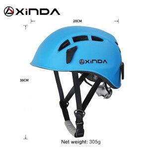 Image 5 - Équipement de sauvetage de montagne de spéléologie de casque de descente descalade extérieure de Xinda pour élargir le casque de travail de spéléologie de casque de sécurité