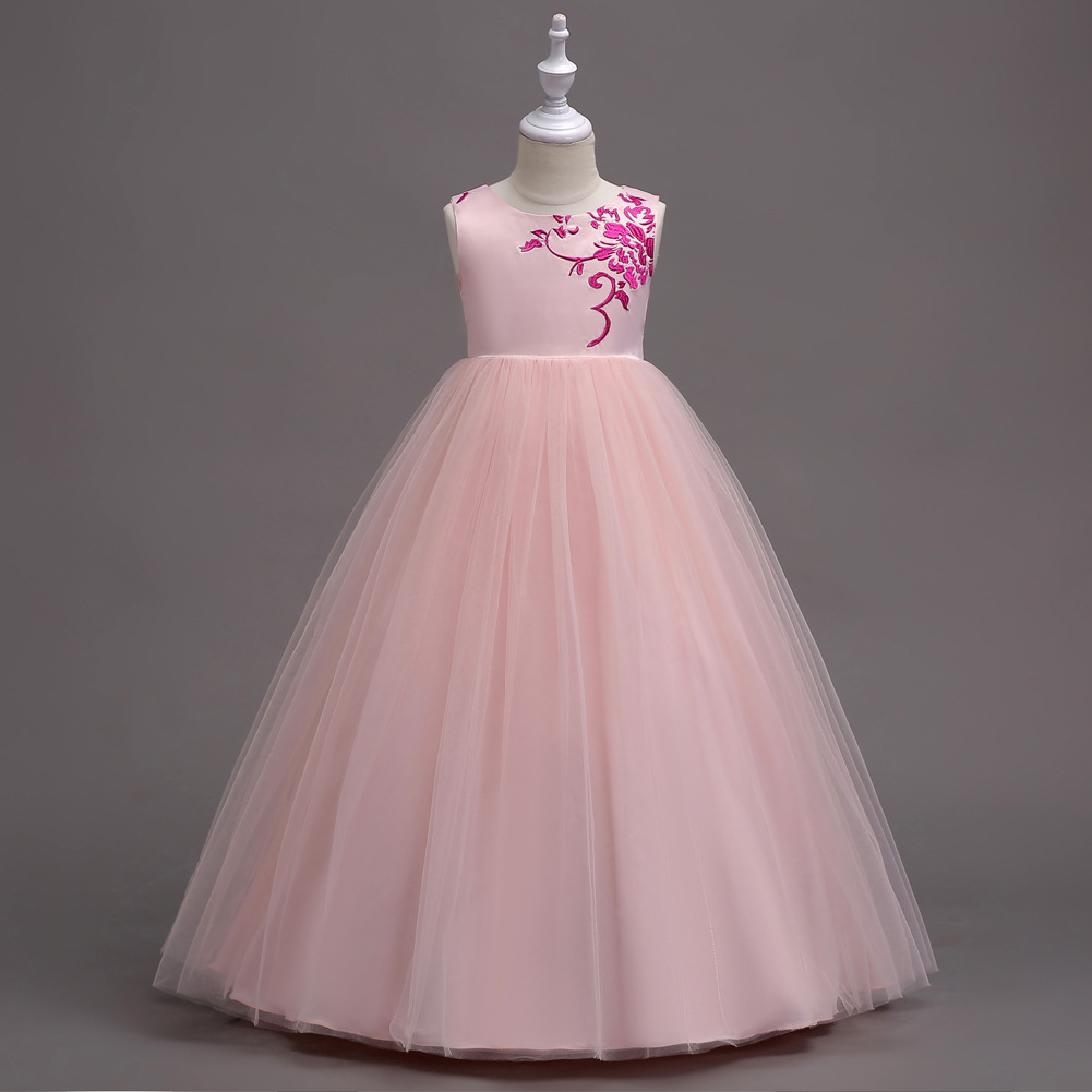 Big Girl Princess Dress European And American Style Embroidery Flower Girl Dinner Dress Princess Elegant Dresses Teenagers 4-15t 15 690 after dinner show