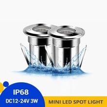 4pcs IP68 3W LED Underwater Light 12V/24VDC Outdoor Swimming Pool Foun