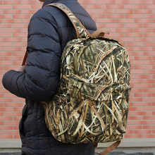 Men Woman Reed Camouflage Backpack Outdoor Hunting Backpack Soft Bionic Camouflage Hunting Bag Fishing Hiking Cool Backpack men zip front camouflage detail backpack