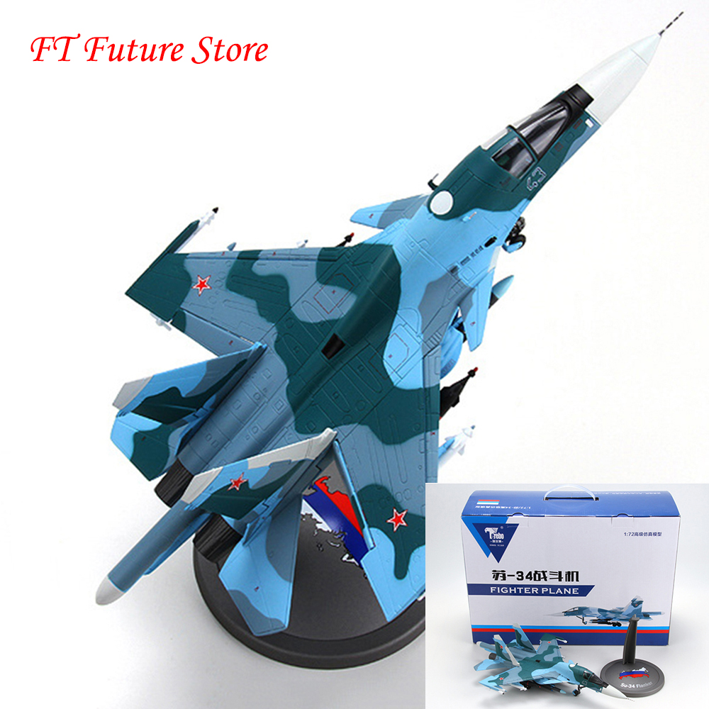 Collectible 1 72 Sukhoi Su 34 Aircraft Model Platypus Bomber Static su34 Alloy Diecast Toy Air