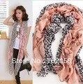 Voile leopard Sarongs beach shawl scarf,wraps 180*100cm mixed color 10pcs/lot #2831