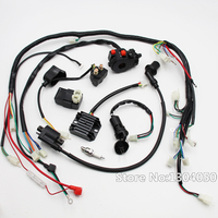 FULL ELECTRICS GY6 125 150CC ATV QUAD Coolster WIRING HARNESS SWITCH IGNITION COIL SPARK PLUG RELAY KIT new