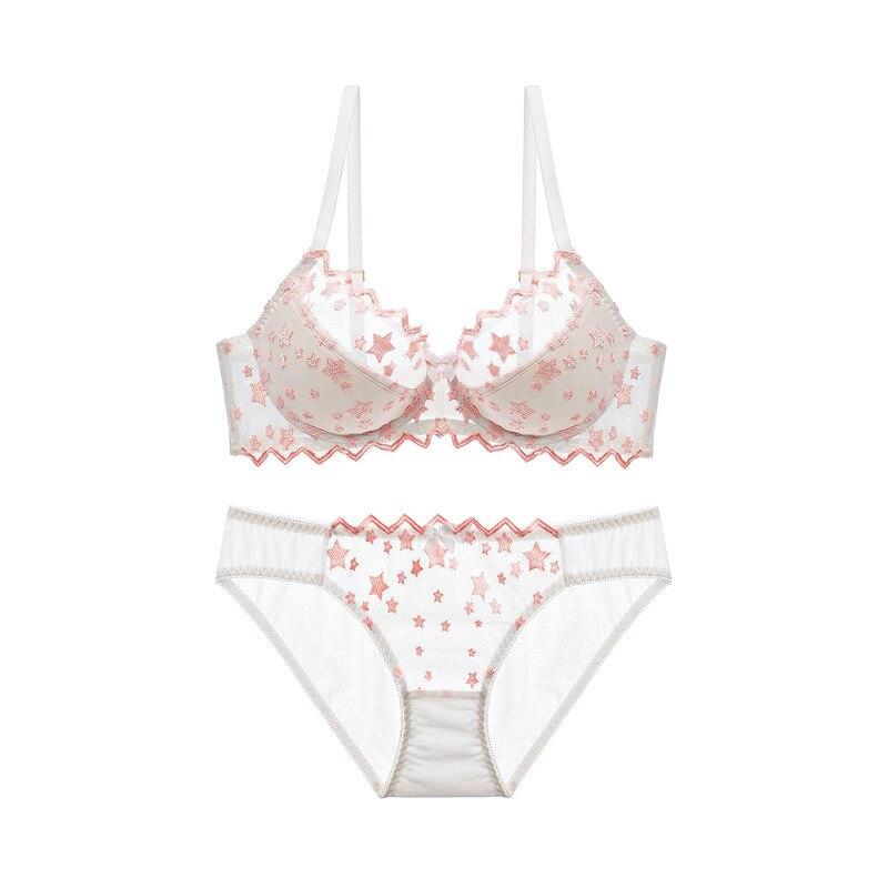 Image 3 - Varsbaby women's sexy underwire embroidery underwear push up geometric bra sets-in Bra & Brief Sets from Underwear & Sleepwears