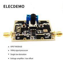 OP07 module Single low deviation voltage amplifier Signal processing within 1MHz Low offset Function demo Board energy deviation