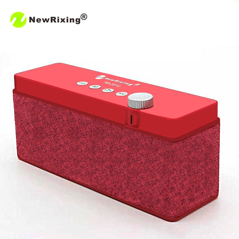 NewRixing NR-2015 Original Bluetooth Speaker Wireless Stereo Mini Portable MP3 Player Support Handsfree Calls TF Card USB AUX-in image