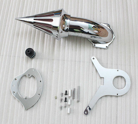 Motorcycle Chrome Spike Air Cleaner Kits Intake Filter For Honda Shadow Aero 750 Moto epman universal 3 aluminium air filter turbo intake intercooler piping cold pipe ep af1022 af