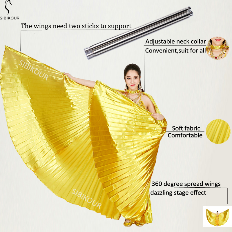 HTB1yIkkbRGw3KVjSZFDq6xWEpXa0 - Belly Dance Isis Wings Belly Dance Accessory Bollywood Oriental Egypt Egyptian Wings Costume With Sticks Adult Women Gold