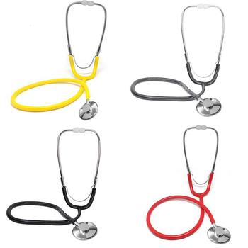 Stetoskop pomoc stetoskop jednogłowy przenośny sprzęt medyczny urządzenie do osłuchiwania DC88 tanie i dobre opinie Breathleshades 137760 Stethoscope PVC+Aluminum 47mm black gray yellow red