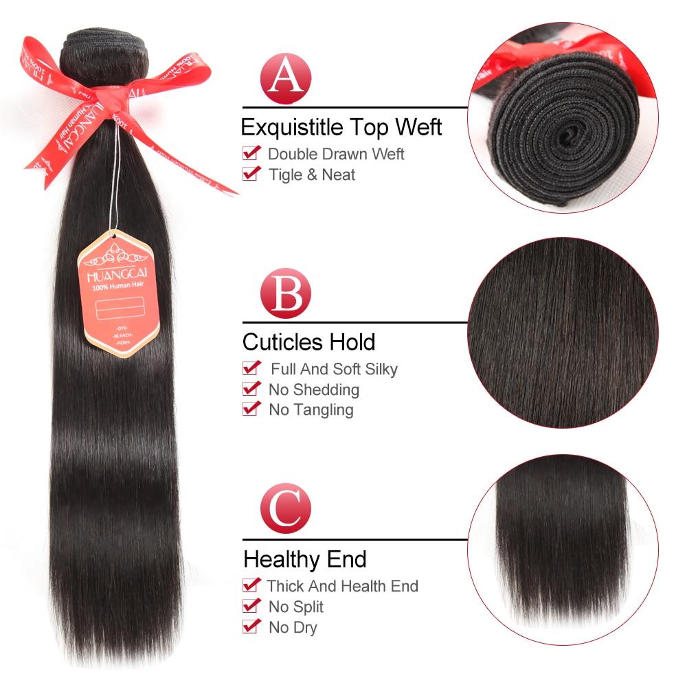 Bulu Rambut Brazil Lurus Sambungan Rambut Manusia 1 Bundle Deals - Rambut manusia (untuk hitam) - Foto 3