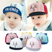 Fashion Cute Cartoon Cat Newborn Hats Baby Boy Girl Baseball Cap Infant Summer Sun Hat With Ear Children Visor Caps