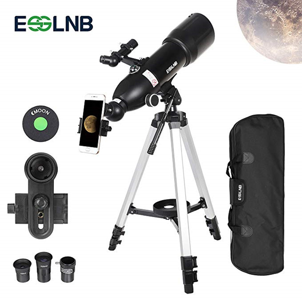 Outdoor Monocular Space Astronomical Telescope With Portable High Tripod Spotting Scope 400/80mm Telescope For Moon Watching f50360 outdoor monocular space telescope astronomical landscape spotting scope 90x zoom binoculars telescope portable tripod