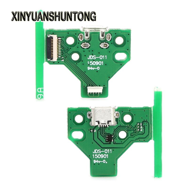 XINYUANSHUNTONG Game Accessory 12-Pin USB Charging Port Socket Circuit Board JDS-011 For Sony PS4 Controller
