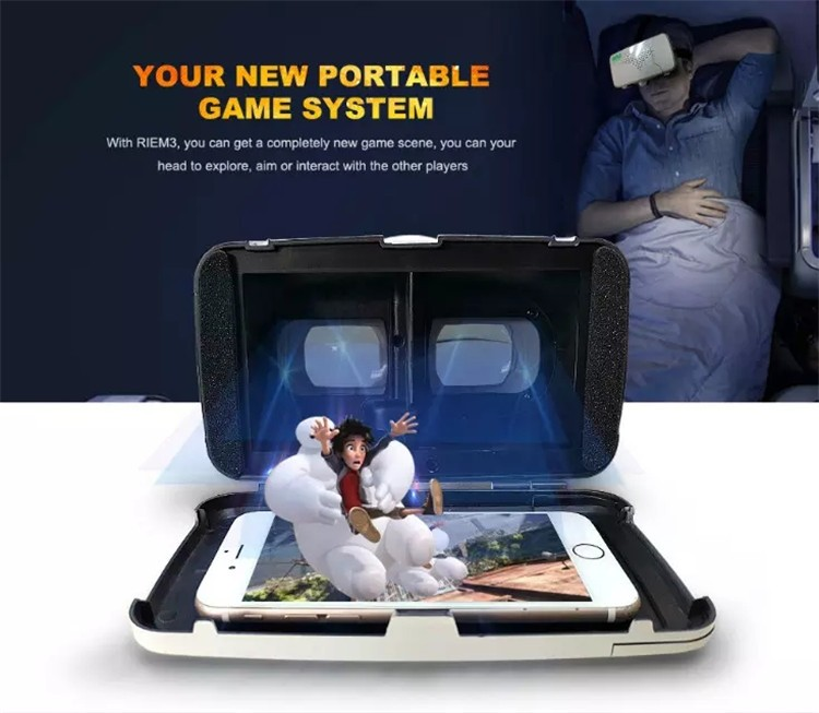 New Ritech III 3D VR Glasses RIEM3 Virtual Reality Head Mount Google Cardboard Oculus Rift DK2 Box for 4.7 ~ 6.0 Inch SmartPhone (25)