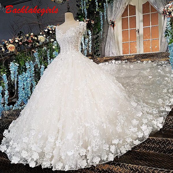 b21208aca77 Mouse over to zoom in. 00174 Luxury Pure White Sexy Wedding First Night  Dresses Embroidered Long Train White ...
