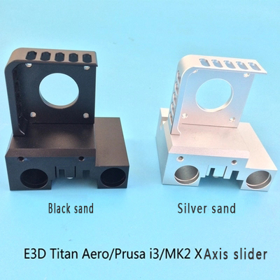 Funssor en alliage d'aluminium X arbre transport kit nema 17 moteur montage + X curseur + clip ceinture Pour Prusa I3 MK2 E3DTitan Aero extrudeuse