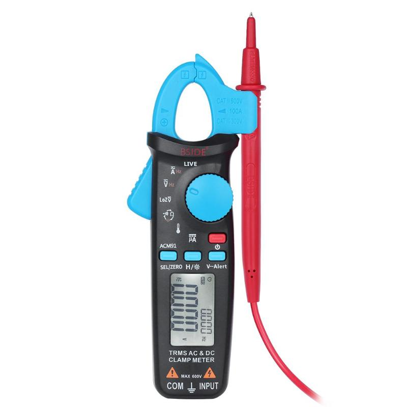 цена Professional ACM91 TRMS AC/DC Current Frequency Multi Purpose Digital Clamp Ammeter Voltmeter Current Voltage Tester Multimeter