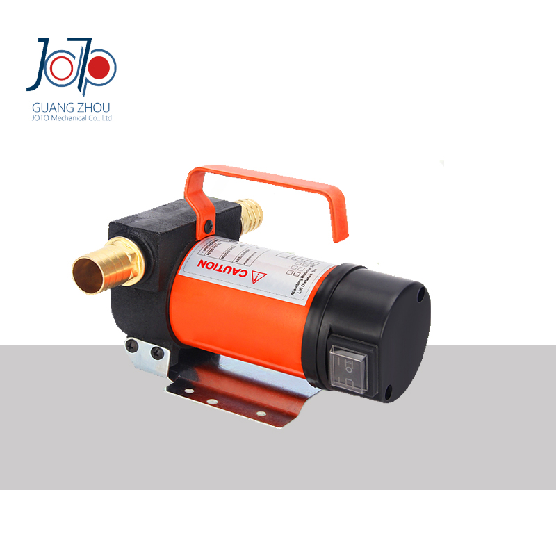 200W 24V DC Cast Iron Cheap Portable Highly Function Dual-purpose Switchable Inlet/outlet Electric Self-priming Oil Refuel Pump  12v dual purpose inlet electric self priming diesel oil refuel oil pump with standard 2m power line and 8m oil tube