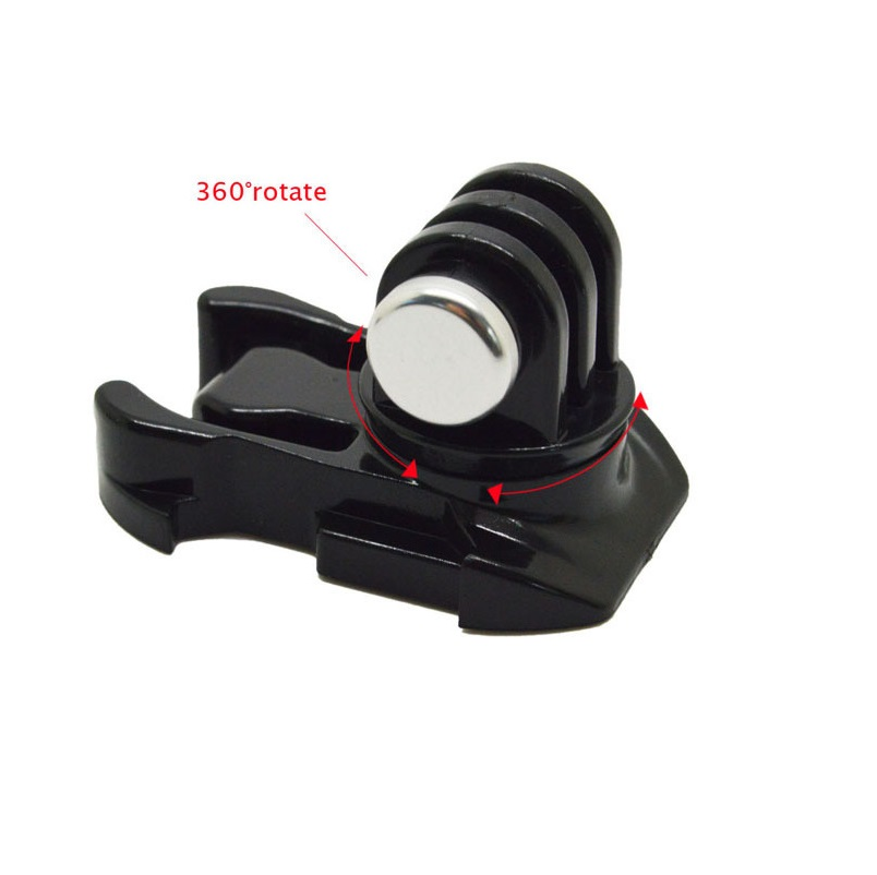360 Degree Rotate Quick Release Buckle Vertical Surface Mount For Xiaomi Yi Action Camera For GoPro Hero 7/6/5/4/3 SJCAM SJ4000