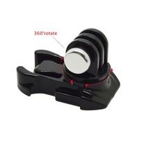 360 度回転させてクイックリリースバックル垂直表面実装xiaomi李のgoproヒーロー 7/6/5/4/3 sjcam SJ4000