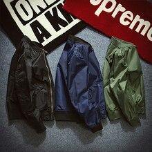 Men's Winter Autumn Classic Style Zipper Military Air Flight Bomber Jacket Coat