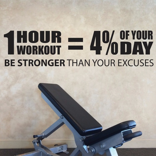 US $18.68 |Gym Entrance Wall Decal Vinyl Sticker Workout Quotes Wall Decal  Gym Sticker Decor Fitness Motivation Wall Art Murals-in Wall Stickers from  ...
