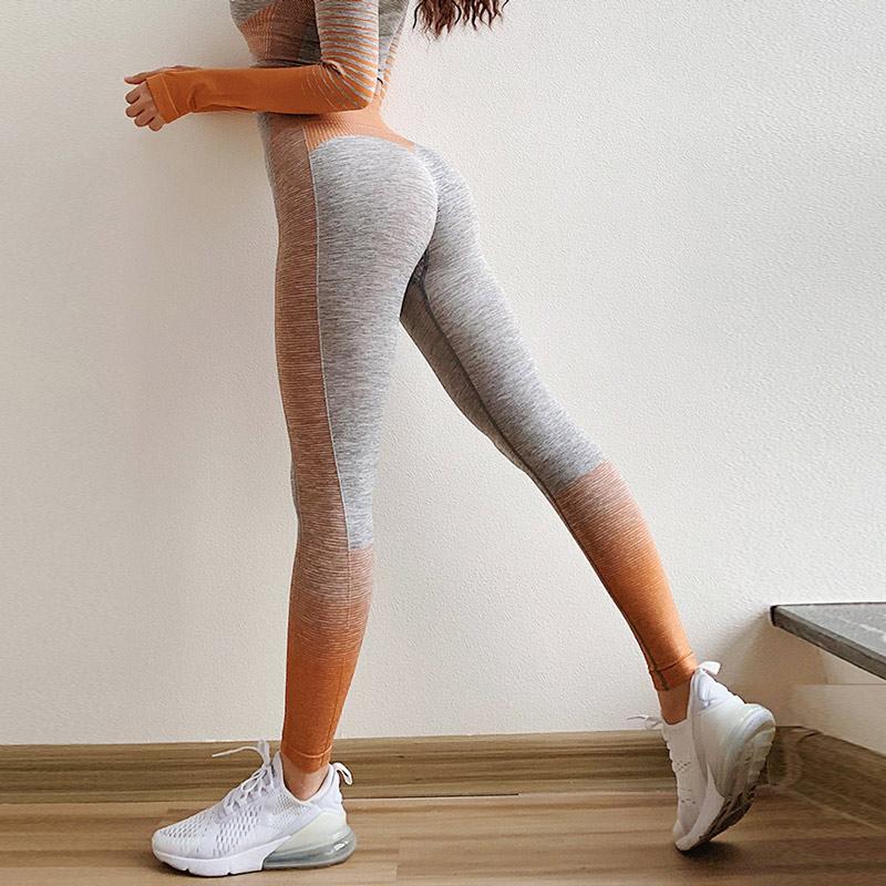 Vital sem Costura Womens Energia Leggings Cintura Alta Ginásio Treinamento Correndo Collants Fitness Workout Wear Yoga Calças l 8 Cores