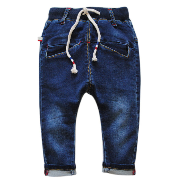 5988 шаровары детские джинсы мальчик джинсовые брюки мягкие джинсовые дети брюки весна и осень мода темно-синий новый 2017