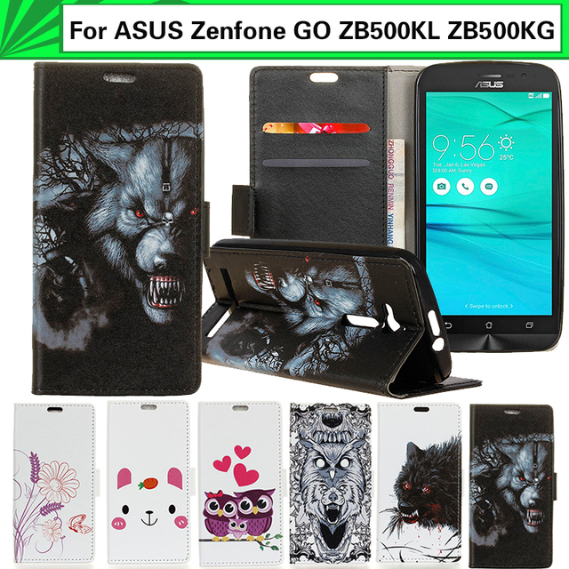 EiiMoo Wallet Case For ASUS Zenfone GO ZB500KL ZB500KG Funda X00AD X00ADC A00ADA X00BD Flip Leather Cover For ASUS ZB500KL Case