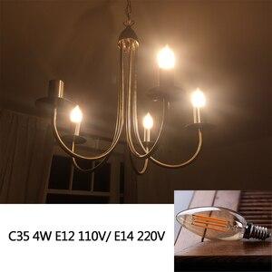 Image 3 - E27 żarówka LED ściemniająca żarówka E14 220V złota 1W 3W 4W 6W 8W E12 E26 110V Edison Retro żarówka LED 2200K G40 żarówka